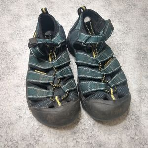 Keen Teal & black waterproof hiking sandal size 1